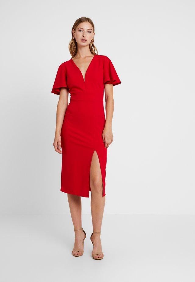 Shift dress - red