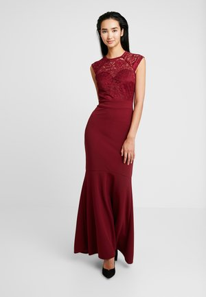 FISH TAIL MAXI - Ballkleid - wine