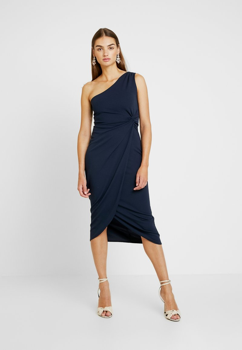 WAL G. - ONE SHOULDER MIDI - Cocktail dress / Party dress - navy