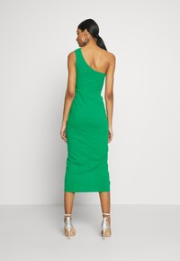 WAL G. - ONE SHOULDER MIDI DRESS WITH KNOT TIE - Etuikjole - green - 3