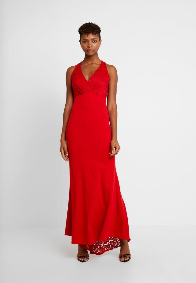 BACKLESS NECK WITH  FISH TAIL - Iltapuku - red