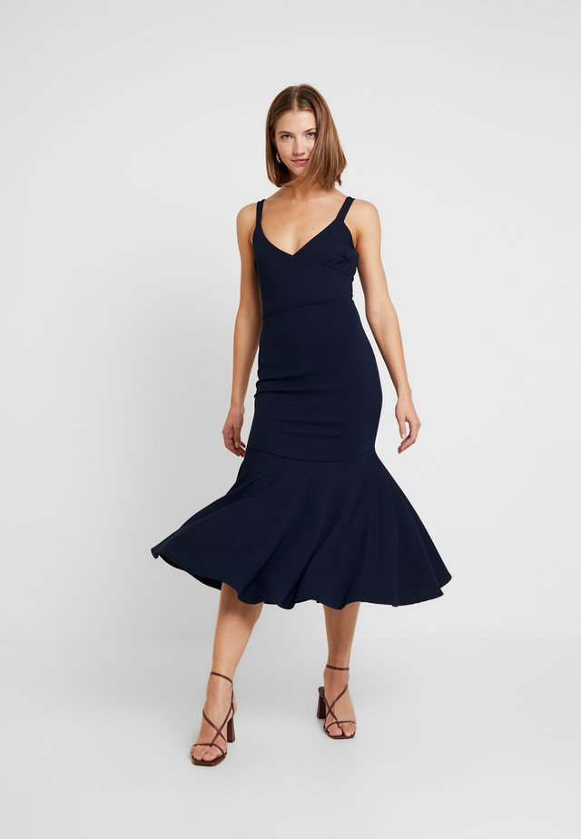 FRILL MIDI DRESS - Maxi šaty - navy