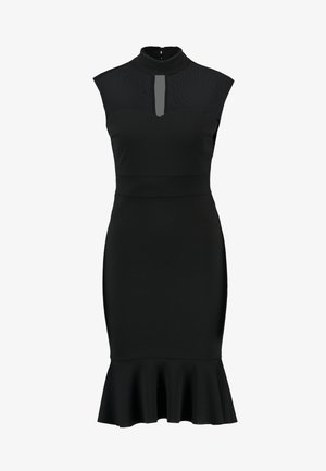 MIDI FRILL - Vestito elegante - black