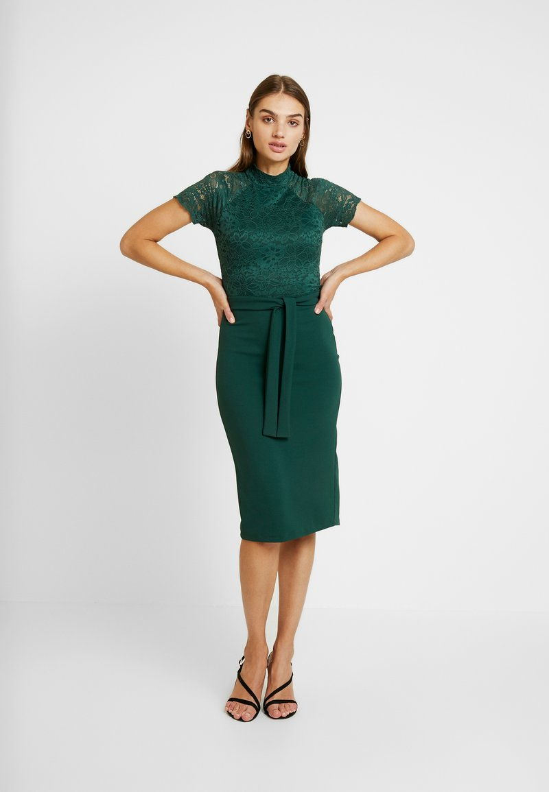 WAL G. - HIGH NECK MIDI DRESS - Cocktailjurk - forest green
