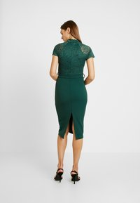 WAL G. - HIGH NECK MIDI DRESS - Cocktailjurk - forest green - 3