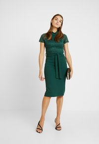 WAL G. - HIGH NECK MIDI DRESS - Cocktailjurk - forest green - 2