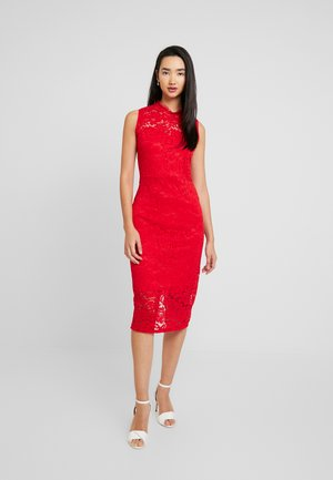 HELCTER NECK MIDI DRESS - Cocktail dress / Party dress - red