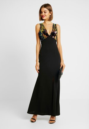 MULTI SEQUINS DRESS - Galajurk - black/multi