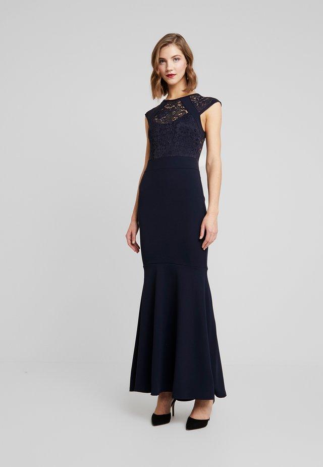 ROUND NECK MAXI DRESS - Společenské šaty - navy