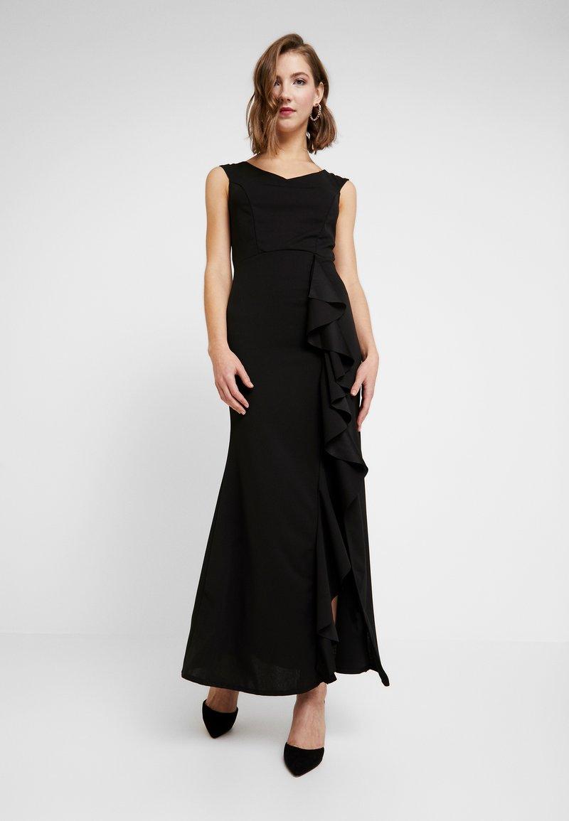 WAL G. - MAXI DRESS WITH FRILL SKIRT - Festklänning - black