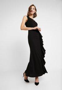 WAL G. - MAXI DRESS WITH FRILL SKIRT - Festklänning - black - 2