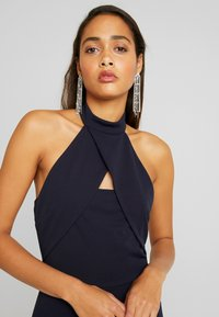 WAL G. - HIGH NECK CROSS MAXI DRESS - Juhlamekko - navy - 4