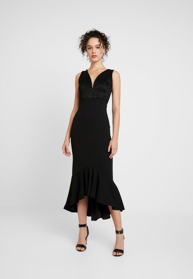 V NECK PLUNGE FILL DRESS - Gallakjole - black