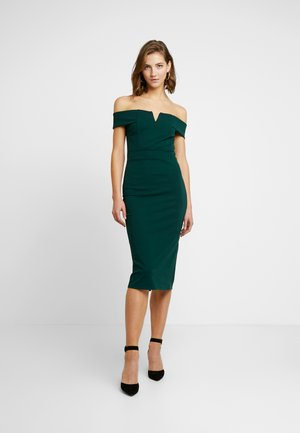 OFF THE SHOULDER MIDI DRESS - Juhlamekko - forest green