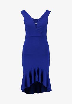 V SHAPE NECK LINE FILL SKIRT MIDI DRESS - Robe de soirée - cobalt blue