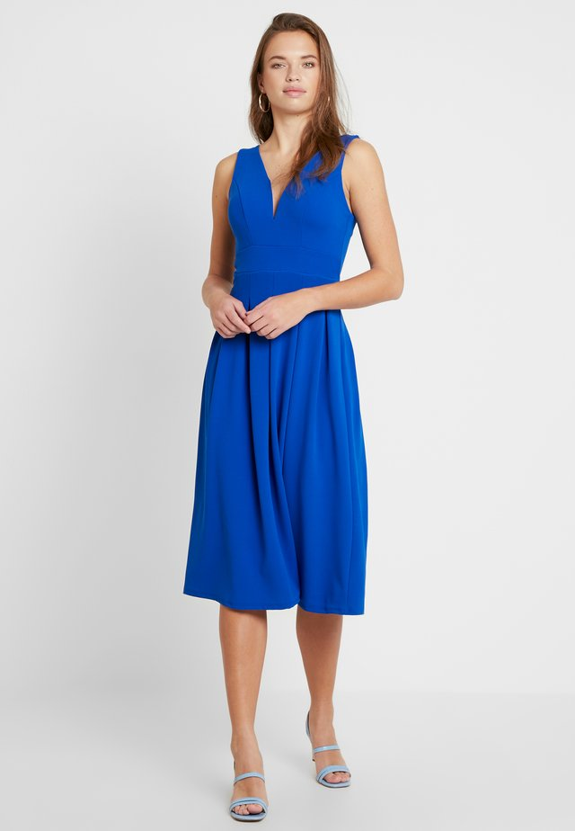 VNECK PLUNGE MIDI DRESS - Vestito elegante - cobalt blue