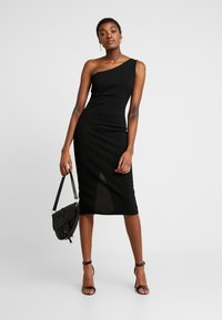 WAL G. - ONE SHOULDER MIDI DRESS - Cocktailkjole - black - 1