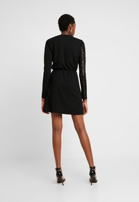WAL G. - WRAP OVER LONG SLEEVE MINI DRESS - Cocktail dress / Party dress - black - 2