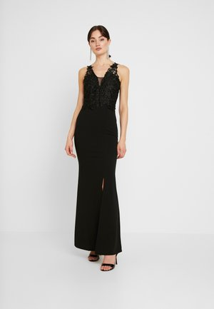 V NECK WITH ACCESSORIEMAXI DRESS - Iltapuku - black