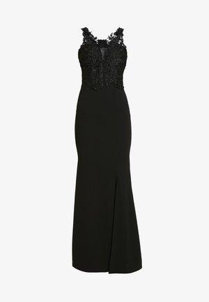 V NECK WITH ACCESSORIEMAXI DRESS - Occasion wear - black