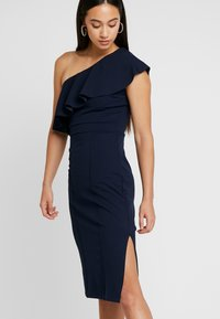 WAL G. - FRILL OFF THE SHOULDER DRESS - Juhlamekko - navy - 4