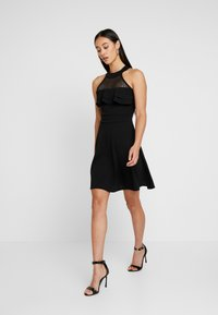 WAL G. - HELCTOR NECK FRILL MIDI DRESS - Robe de soirée - black - 2