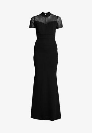 HELCTOR NECK SLEEVE MAXI - Společenské šaty - black
