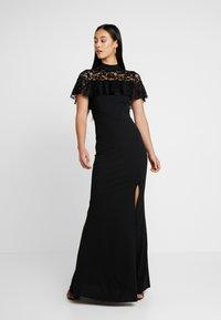 WAL G. - CAPE MAXI DRESS - Společenské šaty - black - 0