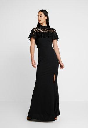 CAPE MAXI DRESS - Společenské šaty - black