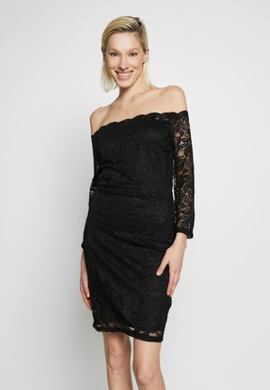 OFF THE SHOULDER GLITTER MINI DRESS - Cocktail dress / Party dress - black