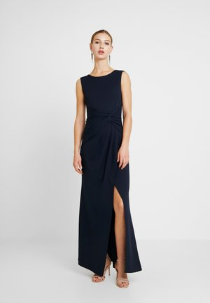 KNOT MAXI DRESS WITH SPLIT - Gallakjole - navy