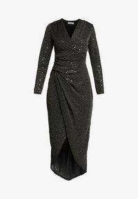 WAL G. - STAR GLITTER WRAP DRESS - Cocktailjurk - black - 5