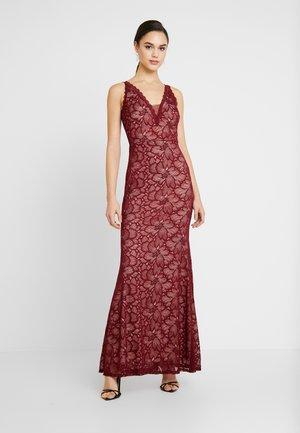 LACE MAXI DRESS - Occasion wear - wine