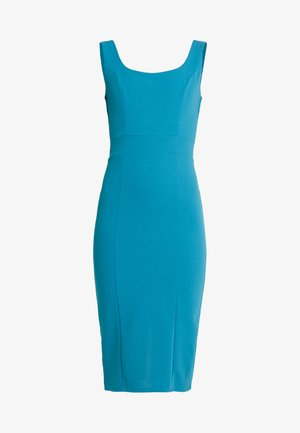 U NECK MIDI DRESS - Jerseykleid - teal