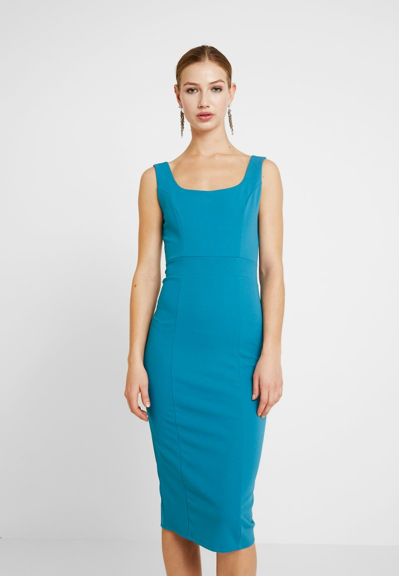 WAL G. - U NECK MIDI DRESS - Jerseykleid - teal