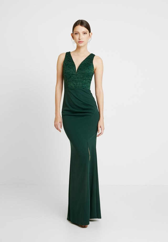 HIGH SPLIT MAXI DRESS - Occasion wear - forest green