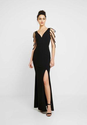 STRING SLEEVE DRESS - Suknia balowa - black