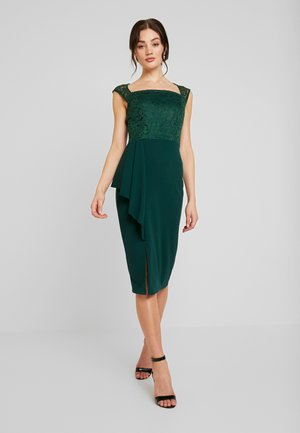 SQUARE NECKLINE MIDI - Shift dress - forest green