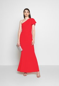 WAL G. - OFF THE SHOULDER LAYERD MAXI DRESS - Occasion wear - berry - 1