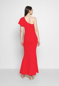 WAL G. - OFF THE SHOULDER LAYERD MAXI DRESS - Occasion wear - berry - 2