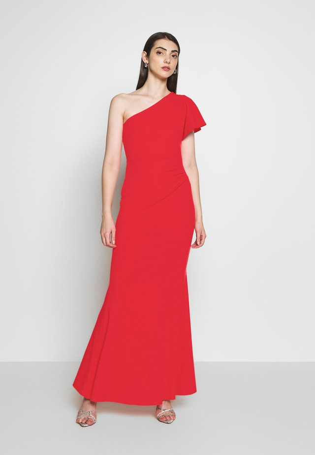 OFF THE SHOULDER LAYERD MAXI DRESS - Occasion wear - berry