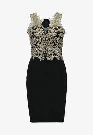 DETAIL DRESS - Cocktail dress / Party dress - gold/black