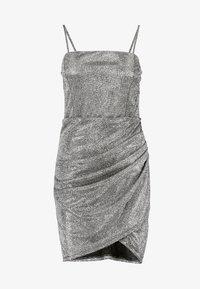 WAL G. - MINI PARTY DRESS - Shift dress - silver - 6