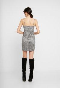 WAL G. - MINI PARTY DRESS - Shift dress - silver - 3