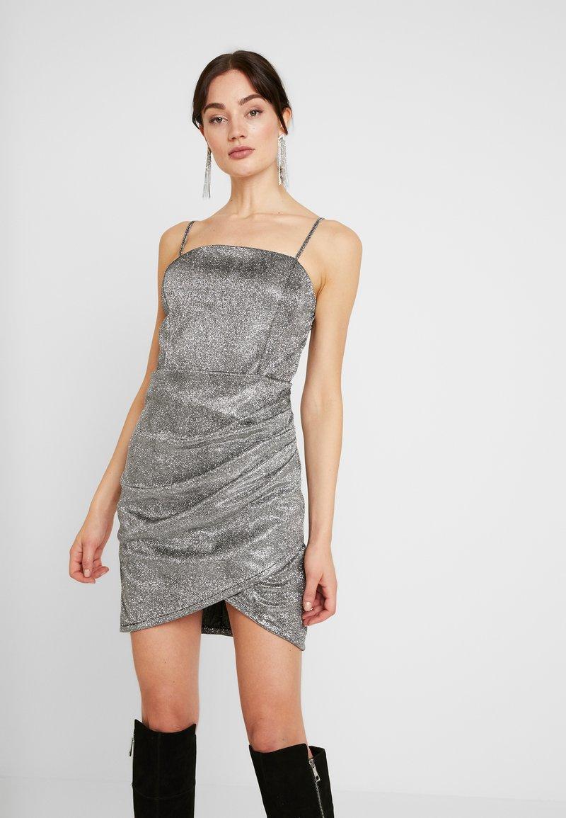 WAL G. - MINI PARTY DRESS - Shift dress - silver