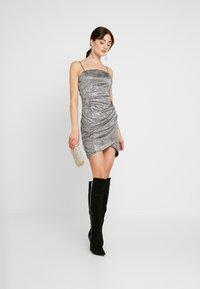 WAL G. - MINI PARTY DRESS - Shift dress - silver - 2