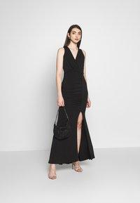 WAL G. - V DETAILED DRESS - Vestido de fiesta - black - 1