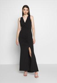 WAL G. - V DETAILED DRESS - Vestido de fiesta - black - 0