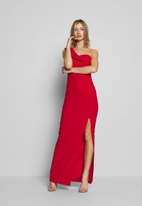 WAL G. - OFF THE SHOULDER FRILL DETAIL MAXI DRESS - Společenské šaty - red - 1