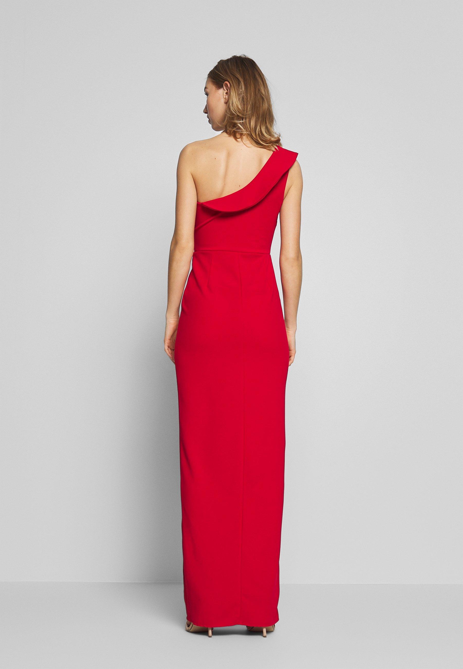 Wal G. Off The Shoulder Frill Detail Maxi Dress - Festklänning Red